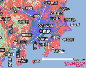 Y!Mobile東京関東周辺対応エリア